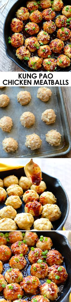 You Have Meals Poisoning More Normally Than You're Thinking That Add Some Zing To Your Meatballs And Make A Homemade Kung Pao Sauce With 100 Clean Eating Ingredients Everyone Will Love These Kung Pao Chicken Meatballs. Clean Eating Recipes, Healthy Eating, Cooking Recipes, Healthy Recipes, Healthy Snacks, Turkey Recipes, Chicken Recipes, Meatball Recipes, Meatball Subs