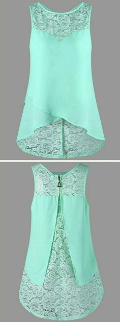 cobalt blue, cranberry would be really nice Lace Panel Sleeveless Blouse Trendy Dresses, Fashion Dresses, Summer Dresses, Summer Outfits, Summer Clothes, Fashion Clothes, Summertime Outfits, Trendy Outfits, Vetement Fashion