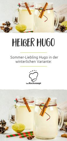 Hot Hugo Heißer Hugo Nom, nom, the summer favorite Hugo is also available in a winter version: Hot Hugo or hot Hugo is guaranteed to delight you! Party Drinks, Cocktail Drinks, Healthy Zucchini, Zucchini Parmesan, Food Tags, Winter Cocktails, Whiskey Drinks, Vegetable Drinks, Barbecue
