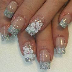 The advantage of the gel is that it allows you to enjoy your French manicure for a long time. There are four different ways to make a French manicure on gel nails. Simple Nail Art Designs, Beautiful Nail Designs, Beautiful Nail Art, Easy Nail Art, Gorgeous Nails, 3d Nail Designs, 3d Nail Art, Cute Nails, Pretty Nails