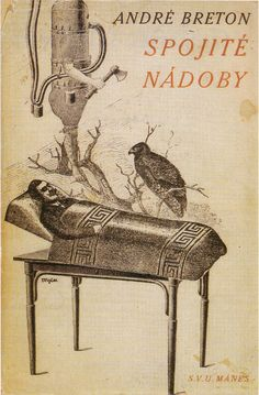 Cover for André Breton's Spojité nadoby by Toyen, 1934