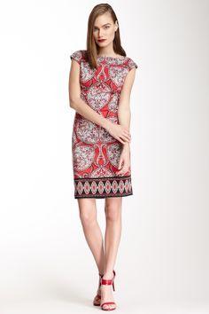 Maggy London Paisley Printed Sheath Dress