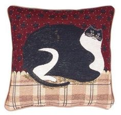 Fat Cat Warren Kimble Decorative Accent Throw Pillow 17 x 17 *** Learn more home decor by visiting the image link.