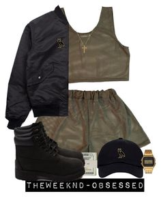 """..."" by theweeknd-obsessed ❤ liked on Polyvore featuring G-Shock, BOY London, Jack Spade and Timberland"