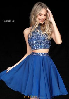 Sherri Hill Short Halter Two Piece Dress 51297