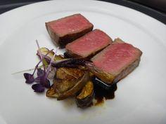 CARNE*  dry aged ribeye, funghi, foie gras, vidalia, balsamico
