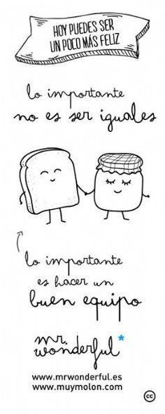 ¡Lo importante no es ser iguales...! ;-) ...
