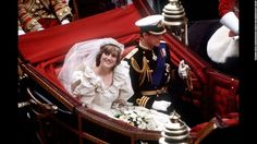 """Horse drawn carriage Lady Diana Spencer married Prince Charles in July Their marriage was widely billed as a """"fairytale wedding"""" and the """"wedding of the century"""". Princess Diana Wedding Dress, Princess Diana Death, Princes Diana, Prince And Princess, Princess Of Wales, Real Princess, Prince Harry, William Harry, Prince Charles Wedding"""