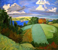 Landscape in Schleswig, Erich Heckel, 1930