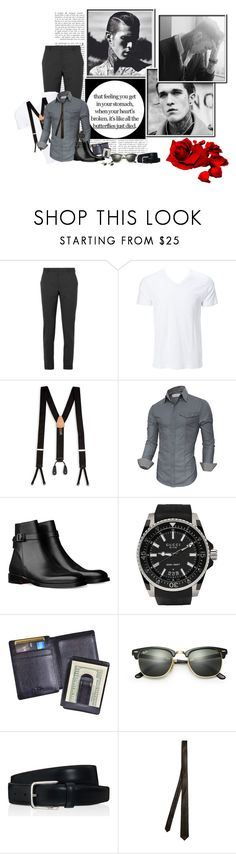 """""""Thanks for the Memories..."""" by nemesisktn ❤ liked on Polyvore featuring Prada, Simplex Apparel, Trafalgar, Oxford, Gucci, Royce Leather, Ray-Ban, Tod's, title of work and Thompson London"""