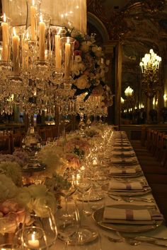 Decadent elegant romantic palace classic wedding in Tuscany. Pastel flowers, gold vases, crystal stands. Crystal candelabras. Venue: Villa Cora, Florence.