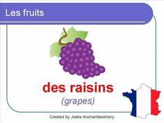 French Lesson 23 -  FOOD VOCABULARY -  LES FRUITS Vocabulaire Lecciones de Frances