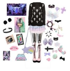 """pastel goth"" by cutiepie92343 on Polyvore featuring Quarto Publishing"