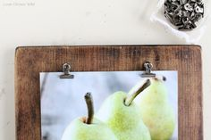 Clip photos on a clipboard. #gallerywalls #homedecor