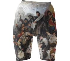 Shop Episode of the Belgian Revolution of 1830 Bike Shorts by THE GRIFFIN PASSANT STREETWEAR (STREETWEAR) | Print All Over Me