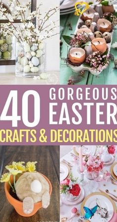 Easter Decorations For The Home That You ll Love  Are you looking for DIY Easter<br> Easter Table Decorations, Diy Party Decorations, Easter Crafts For Adults, Easter Ideas, Decoupage, Easter Party, Easter Wreaths, Easter Recipes, Easter Baskets