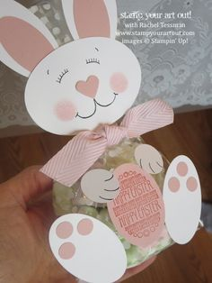 Cute bunny to attach to a treat bag. So clever!