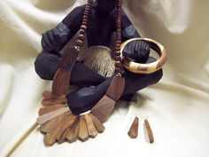 Tribal Wooden African Necklace Set