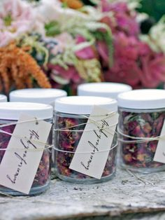 Send your friends and family home with something special. These DIY wedding favors from HGTV.com are easy to assemble and will impress your guests.