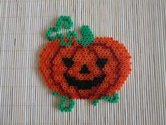 Halloween pumpkin hama perler by Dotie