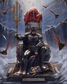 Another awesome pic from DC Comics Sir Batman. - Batman Canvas Art - Trending Batman Canvas Art - Another awesome pic from DC Comics Sir Batman. Marvel Dc Comics, Dc Comics Art, Sun Tzu, Personnage Dc Comics, Captain Marvel, Thor Marvel, Marvel Art, Captain America, Batman Artwork