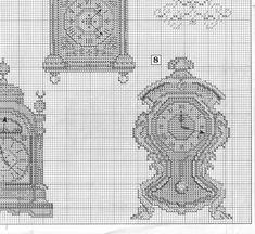 Schema punto croce Orologi Da Parete 5