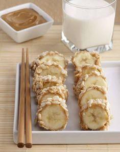 Sushi For Kids, Kid Sushi, Fruit Sushi, Dessert Sushi, Sushi Sushi, Breakfast Sushi, Banana Breakfast, Banana Dessert, Cute Breakfast Ideas
