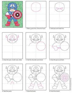 Draw Captain America