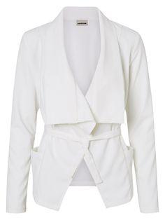 Noisy may white blazer