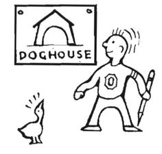 1939 doghouse drawing.  From the 1939 Oregana (University of Oregon yearbook).  www.CampusAttic.com