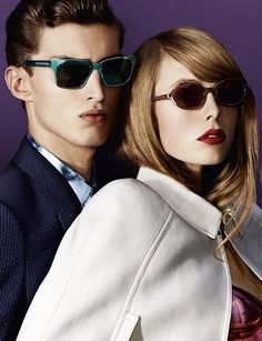 2577fb9e265d Edie Campbell and Charlie France wearing Splash Sunglasses in the latest Burberry  S/S13 campaign