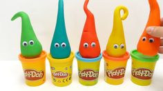 5 Play Doh Ice Cream Cones with Surprise Toys for Kids