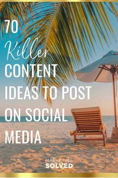 70 Killer Content Ideas To Post On Social Media. This is going to help you be consistent with you social media posts. Check it out and start using these ideas. Marketing Articles, Content Marketing Strategy, Social Media Marketing, Facebook Marketing, Marketing Ideas, Business Marketing, Business Tips, Social Media Content, Social Media Tips