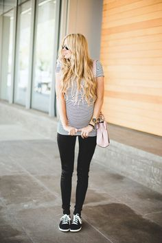 Black leggings can be your best friend during pregnancy. They're lightweight, slimming, go with every maternity top imaginable, and highlight the smallest part of your expanding figure. What's not to love?