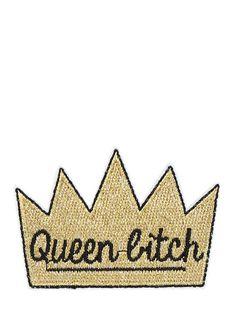 Skinnydip Queen Bitch Iron on Patch