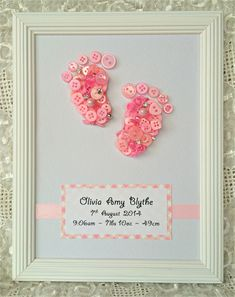 Button Baby Feet - Custom order (pink)