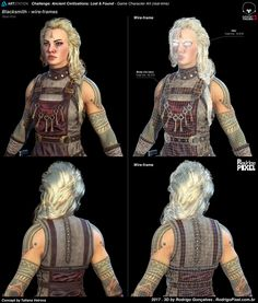 ArtStation - Rodrigo Gonçalves's submission on Ancient Civilizations: Lost & Found - Game Character Art (real-time) High Fantasy, Fantasy Art, Game Character, Character Design, Rose Quartz Steven, Body Sculpting, God Of War, Art Challenge, Fantasy Characters