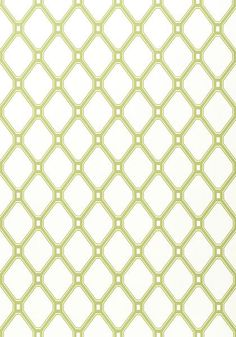 INGRID, Green on White, T4975, Collection Jubilee from Thibaut
