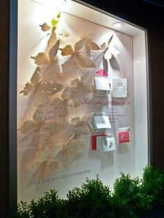 Crane & Co. booth had these stunning window displays at National Stationary Show 20011