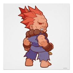 Pocket Fighter Akuma 2 Print - Street Fighter - $20.00