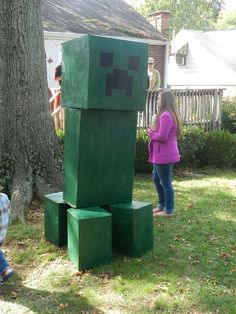 """The creeper"" from Minecraft Birthday Minecraft Birthday Party, 6th Birthday Parties, 8th Birthday, Birthday Ideas, Minecraft Party Decorations, Minecraft Party Ideas, Party Time, Lego Minecraft, Minecraft Skins"