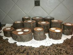 Did this on a longer log to put in the fireplace... love the smaller scale centrepieces