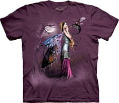 The Mountain Dragon Whisper T-Shirt, Medium, Plum. 100% preshrunk cotton. We are pioneers of water based ink and have perfected it's use to create photo-realistic imagery that is Not attainable by other screen printers. Created, developed, dyed, and printed in Marlborough, NH. The Mountain uses only environmentally friendly water-based inks and dyes. Oeko-tex 100 Certified which guarantees our shirts are free of chemicals harmful to your body.