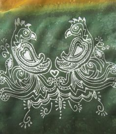 Handpainted silk scarf, Indian scarf with parrots by KavitaKriti, $40.00  https://www.etsy.com/listing/152790109/handpainted-silk-scarf-indian-scarf?ref=shop_home_active