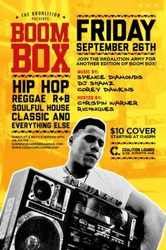 September 26, 2014 Music Album Covers, Music Albums, Music Artwork, Boombox, I Party, Reggae, Hip Hop, September, Parties