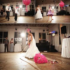 Pinata --- I know it's kinda crazy, but I kind of like this idea depending on the time of the reception :-)