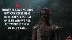 Lily: There are some wounds that can never heal. There are scars that make us who we are. But without them, we don't exist.  More on: http://www.magicalquote.com/series/penny-dreadful/ #Lily #PennyDreadful