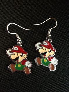 Super Mario Video Game Earrings