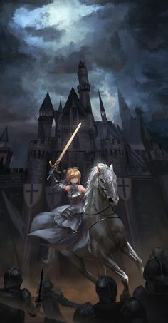 Anime 1200x2305 anime anime girls Fate/Grand Order Fate/Stay Night Fate/Unlimited Codes  Saber Saber Lily armor sword weapon castle blonde green eyes