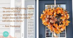 Thanksgiving quote from Ann Voskamp    GoodMorningGirls.Org